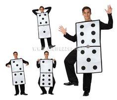 Disfraz de Ficha de Dominó para adultos. Incluye el disfraz de Dominó. Ideal para Grupos y pasar un buen rato jugando.