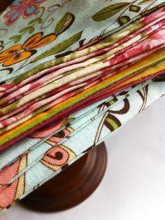 10 Lunchbox Napkins in Assorted Fabrics Eco Friendly by klinwin, $10.00