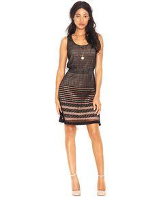 $54.99 Maison Jules Sleeveless Scoop-Neck Pleated Dress - Dresses - Women - Macy's