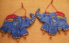 Wall Hanging Crafts, Hanging Art, Clay Wall Art, Clay Art, Bird Crafts, Clay Crafts, Diwali Decoration Items, African Pottery, Diy Straw