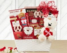 Valentine's Day Gift Basket of Chocolate and Plush Bear Price: $96.99 Free Shipping #ValentinesDay #Valentine #Valentines #love #amerigiftbaskets #gifts #baskets #giftsbaskets #gift #FreeShipping #birthday #chocolate #gourmet #Holiday #Holidays #occasions For more information visit: www.AmeriGiftBaskets.com
