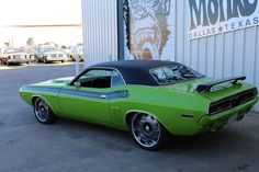 Gas Monkey Garage 1971-2015 Challenger..Re-pin...Brought to you by #CarInsurance at #HouseofInsurance in Eugene, Oregon Gas Monkey Garage, Custom Garages, Custom Cars, Hot Wheels Cars, Hot Cars, Gas Money, Pony Car, American Muscle Cars, Dodge Challenger