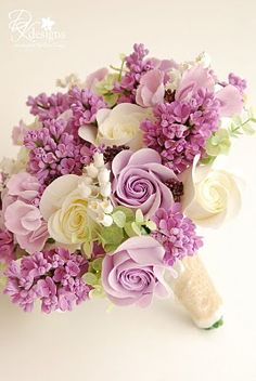 by ... DK Designs ... Lilac, English Roses, Lily of the Valley, & Sweet Pea