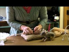 How To Needle Felt - Mouse Series 2: Wrapping Toes and Legs by Sarafina Fiber Art