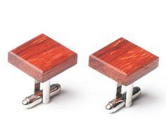 Wooden Cufflinks African Padauk - Gift for men