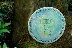 Let it Be Wall Plate with Beatles Lyrics by terraworks on Etsy