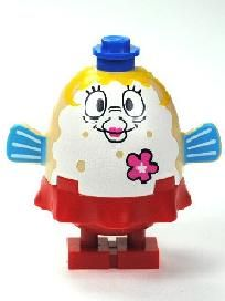 NEW LEGO SPONGEBOB SQUAREPANTS PARTY SMILING MRS PUFF MINIFIG FROM SET 3818