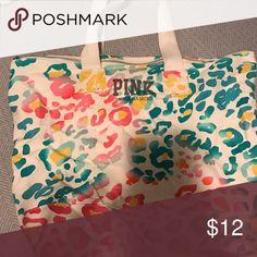 Victoria's Secret PINK tote! Cheetah print Victoria's Secret PINK tote PINK Victoria's Secret Bags Totes