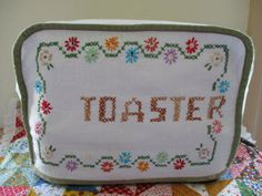 Vintage Handmade Kitchen Toaster Cover Embroidered 1950s
