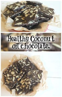 Healthy 3 ingredient Coconut oil chocolate.  A perfect healthier alternative to chocolate.