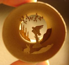 Anastasia Elias - Miniature Art on Toilet Paper Rolls