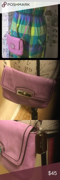 Coach Kristen crossbody lilacs leather EUC minimal signs of wear. Authentic. Rare. Medium size. Magnetic closure Coach Bags