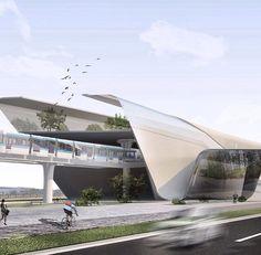 Theatre Architecture, Architecture Portfolio, Futuristic Architecture, Architecture Design, Building Facade, Building Design, Airport Design, Public Space Design, Dream House Exterior