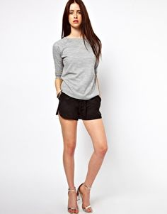 By Zoe Silk Shorts with Tie Waist