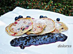 Blog de cuina de la dolorss: Tortitas o panqueques de arándanos