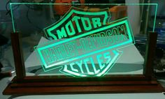 Lampara Acrylica Led Harley Davidson