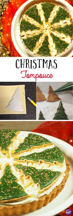Christmas Tompouce Recipe - Learn how to put a Christmas twist to the popular Dutch pastry Tompouce!