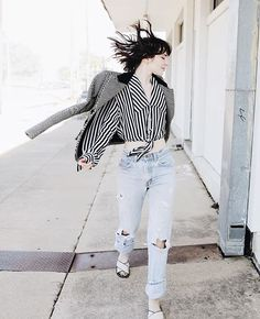 Pin for Later: How to Live Out the Rest of the Summer in Your Favorite Wardrobe Staples  In a casual knot with boyfriend jeans.