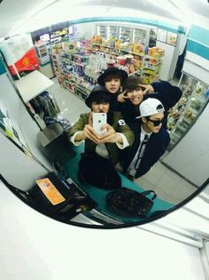 They are handsome even if they're in supermarket