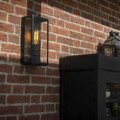 Applique murale extérieure moderne rectangulaire noire avec verre - Rotterdam 1 - lampeetlumiere.be Rotterdam, Vintage Stil, Exterior Lighting, Led Lamp, Home Appliances, Country, Inspiration, Home Decor, Visible
