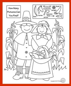 "This Thanksgiving ""Hidden Picture Search"" is part of a four page set of fun and educational activities your kids will love!"