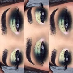 How to Apply Eyeliner to Accentuate Your Eyes Fall Makeup, Love Makeup, Makeup Inspo, Makeup Inspiration, Beauty Makeup, Green Eyeshadow, Eyeshadow Looks, Eyeshadow Ideas, Dramatic Eyeshadow