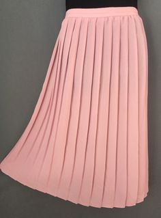 "Vintage 60's Polyester Skirt Pink Pleated Skirt 33"" Elastisized Waist Flapper Accordian Pleat Skirt 1960's Rose Pink Skirt Midi XL Skirt! by entangledgemvintage on Etsy https://www.etsy.com/listing/262189676/vintage-60s-polyester-skirt-pink-pleated"