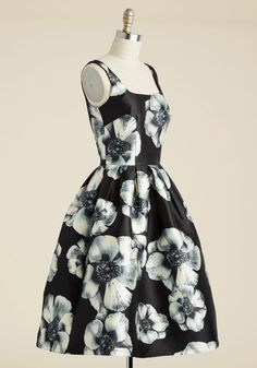 In the Stunning Floral Dress. Congratulations! #black #prom #modcloth