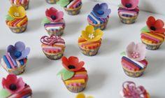 vrolijke minicupcakes