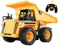 Fully Functional Remote Control Dump Truck RC Construction Car 5CH Gift For Kids #TopRace