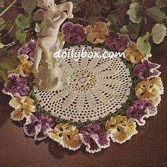 Free Crochet Patterns Pansy doily pattern