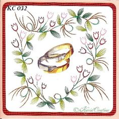 KarinsCreations Iris, Cards, Embroidery, Irise, Irises