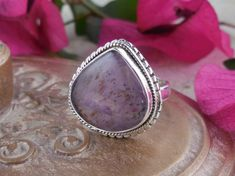 Cacoxenite Sterling Silver Ring – Size 8.0