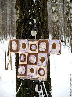 Купить Кимоно Шоколад со льдом - комбинированный, орнамент, сиреневый, лиловый, бежевый, шоколадный, коричневый