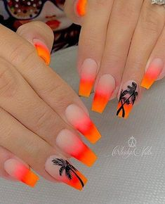 56 Trendy summer acrylic coffin nails design and color ideas - - Coffin & Stiletto . - 56 Trendy Summer Acrylic Coffin Nails Design and Color Ideas - - Coffin & Stiletto Nails Design - # nails - Coffin Nails Designs Summer, Neon Nail Designs, Acrylic Nail Designs Classy, Tropical Nail Designs, Designs For Nails, Coffin Nail Designs, Acrylic Nail Designs For Summer, Beach Nail Designs, Cute Summer Nail Designs