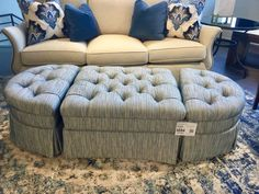 3 piece flexible ottoman for tables and seating. Showroom Furnitureland South 2016 Jamedtown, NC
