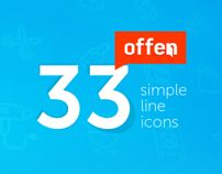 Offen - 33 Simple Line Icons