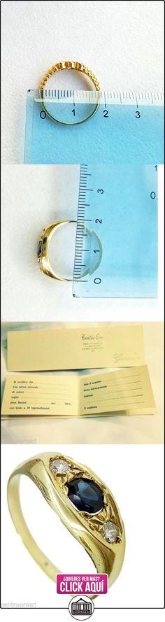 Anillo para hombre en oro 18quilates con zafiro y diamantes-18K gold Men Ring with Sapphire, Diamond  ✿ Joyas para hombres especiales - lujo ✿ ▬► Ver oferta: http://comprar.io/goto/B01MQI4174