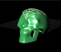718f62f393fe 3D Model of a custom-made ring from Twisted Love. Santa Muerte