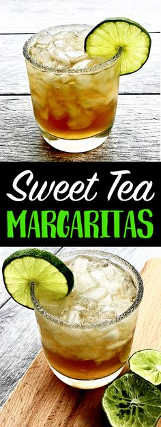 Süßer Tee Margaritas ,   #margaritas Party Drinks, Cocktail Drinks, Fun Drinks, Healthy Drinks, Cocktail Recipes, Alcoholic Drinks, Beverages, Sweet Tea Cocktail, Cocktail Ideas