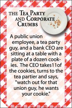 Postcard - The Tea Party & Corporate Crumbs