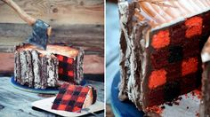 No, you aren't imaging things, this incredible Lumberjack Tree Trunk Cake really doesn't exist. Created by gifted cake artist  Elizabeth Marek
