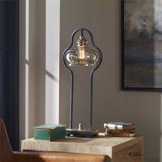 Uttermost Cotulla Aged black Desk Lamp