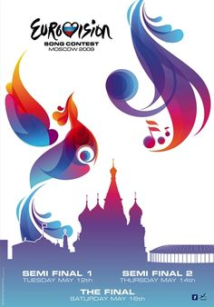 Eurovision Song Contest logo from Moscow 2009 #JoinUs #Eurovision