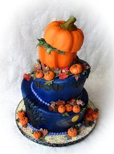 Halloween Wedding Cake by TrulyCustom