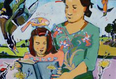 The original paintings of Linda Etherington Oil Paint Set, Milk The Cow, Love Shape, To My Mother, Little Girls, Original Paintings, Fine Art, Disney Characters, Illustration