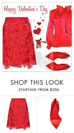"""""""Happy Valentine's Day"""" by amchavesj-1 ❤ liked on Polyvore featuring Christopher Kane, Yves Saint Laurent and valentine"""