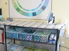I've had a lot of sewing spaces over the years. I started in our first apartment sitting on the floor with my machine on a step stool (young...