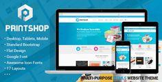 Printshop - Responsive HTML Printing Template  (Business) Download   #printwebsite #printing #printingcorporate #printshop #webtoprint http://w7download.com/printshop-responsive-html-printing-template-business-download