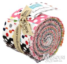 Cotton Solids - Small Dots Jelly Roll from Missouri Star Quilt Co